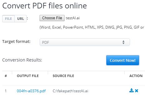 Aconvert AI to PDF converter