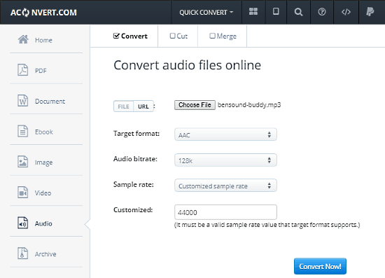free MP3 to AAC converter