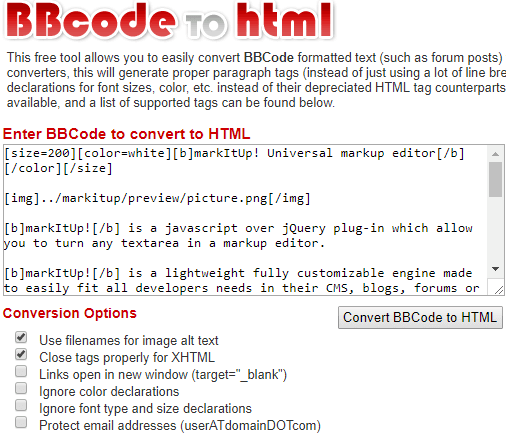 4 Best Free BBCode to HTML Converter Websites