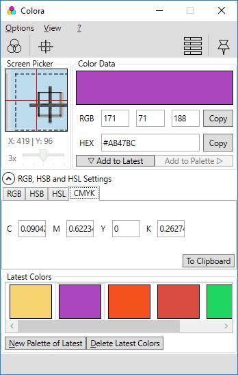Colora interface