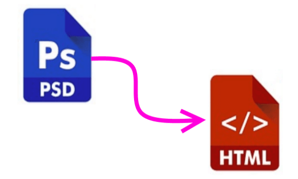 convert psd to html online free