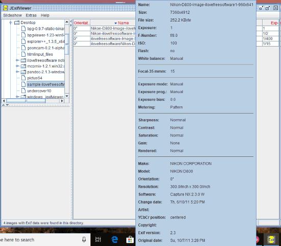 JExifViewer- interface
