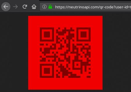 Neutrini API advanced QR code generator