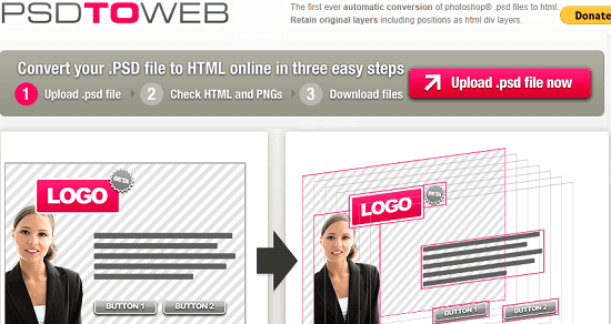 PSD to WEB frere psd to html converter