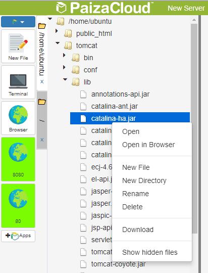 PasizaCloud file manager