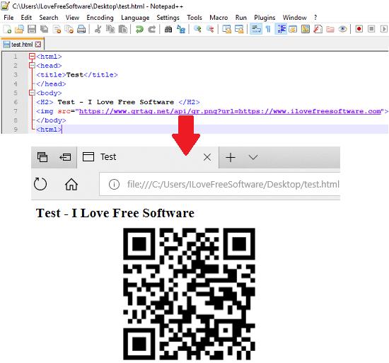 QR code API QRtag