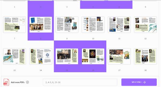 Smallpdf.com split pdf tool
