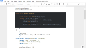 add syntax highlighting to code in google docs
