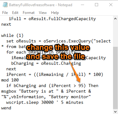 change percentage value and save file