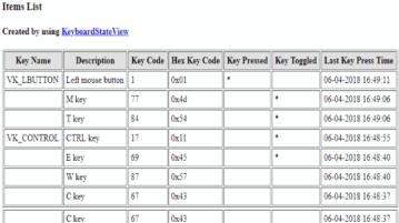check key code of any pressed key