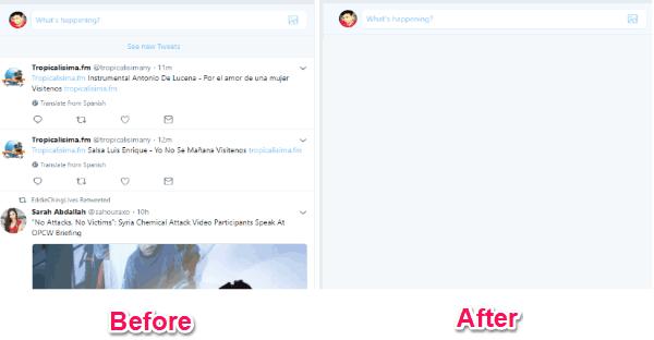 hide twitter feeds