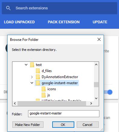 install google instant