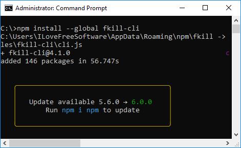 npm install fkill cli