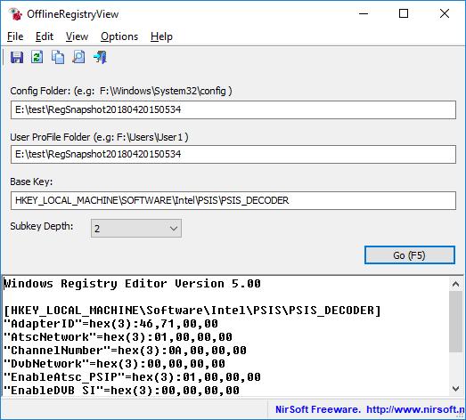 offlineregistryview show a registry