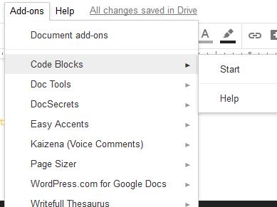 open code blocks sidebar