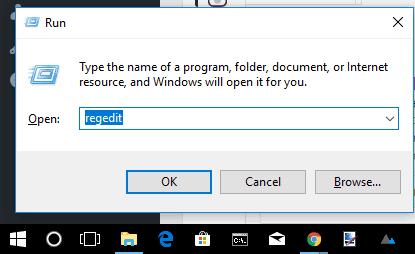 open registry editor using run command