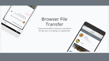 share files with any device on same network with drag n drop