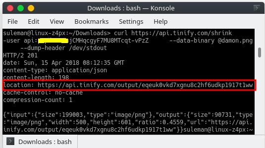 tinyJPg tinyPNG image compression api