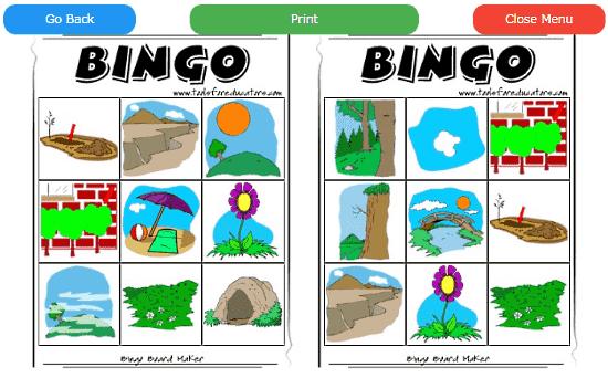 picture bingo card maker