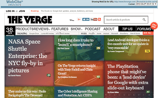 Internet Archive Wayback Machine Alternative: webcitation.org