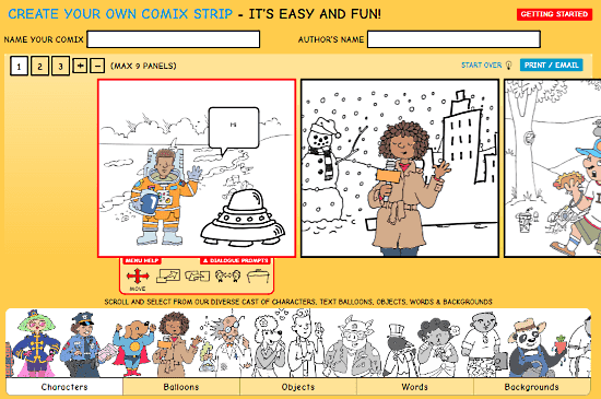 comic creator for students