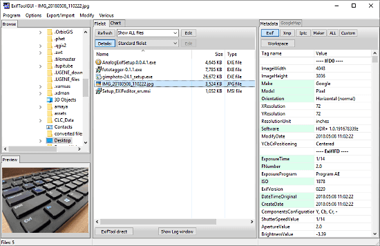 open source exif editor