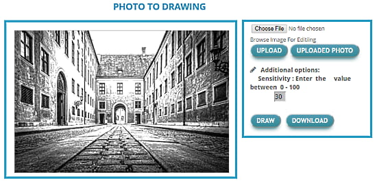 online photo to drawing