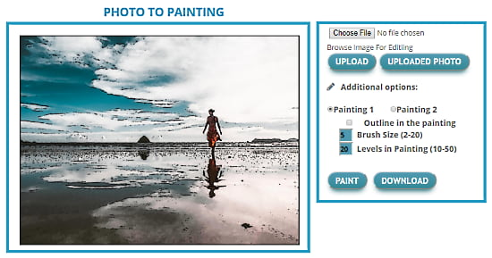 convert photo to painting online