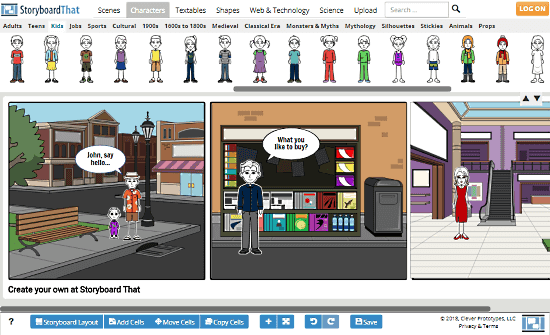 online comic creator for students