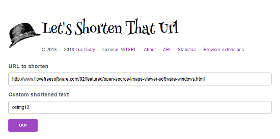 open source url shortener