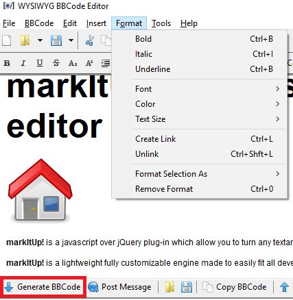 BBCeditor formatting tools