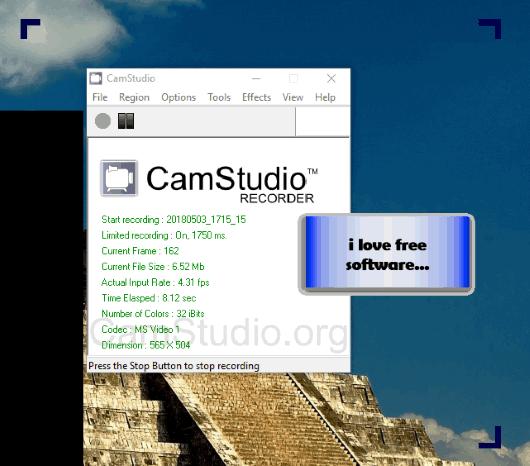 CamStudio software