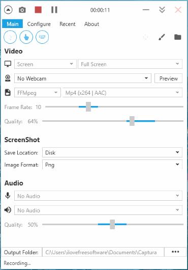 Captura- interface