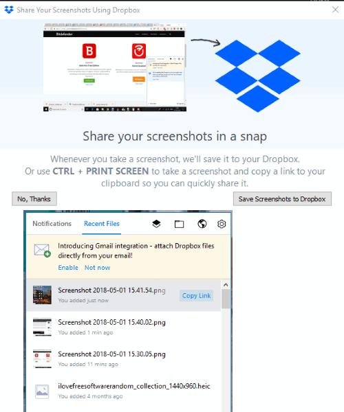 Dropbox desktop client