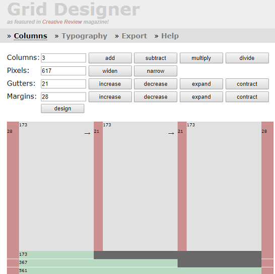 Grid designer in action