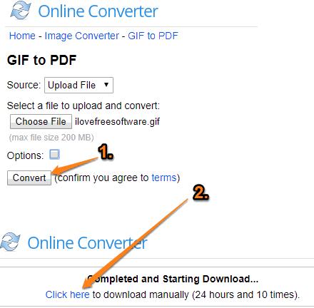 Online Converter GIF to PDF