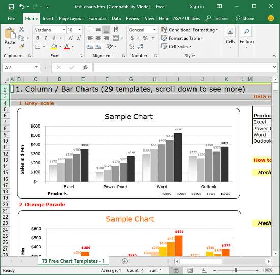 Open Excel sheet in wxcel to save it as a web page