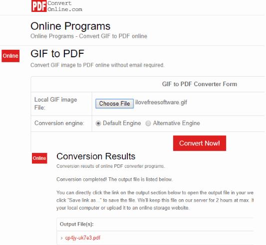 PDFConvertOnline.com GIF to PDF