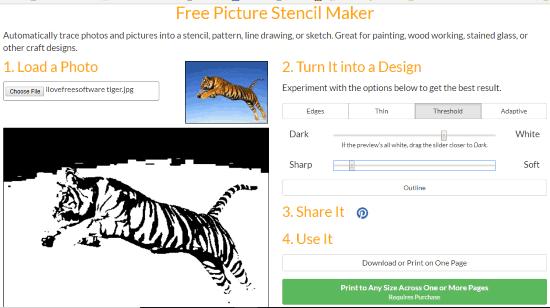 4 Online Photos To Stencils Converter Websites Free