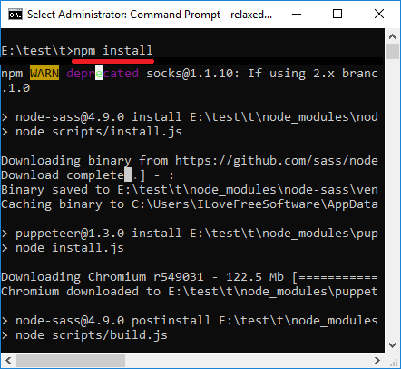 Relaxed NPM Install