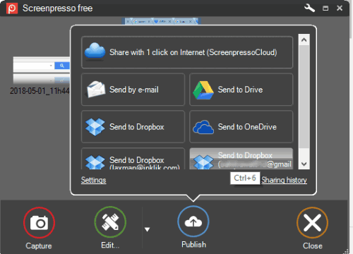 Screenpresso free version