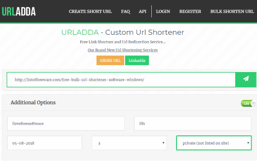 URLAdda- homepage