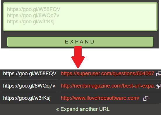 Urlex free bulk URL expander