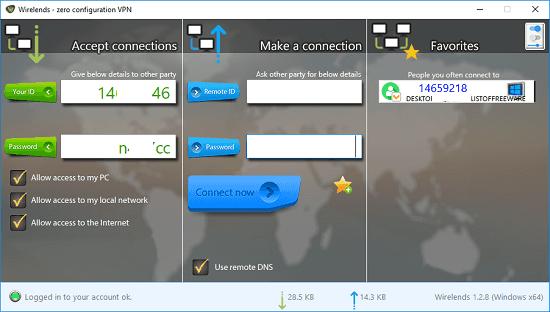 Wirelends interface