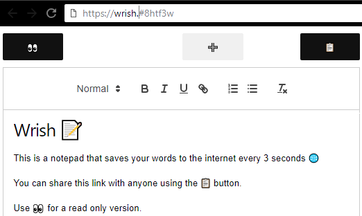 Wrish interface