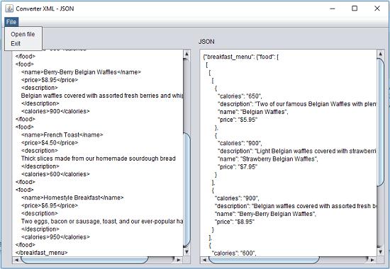XJparser free XML to JSON converter