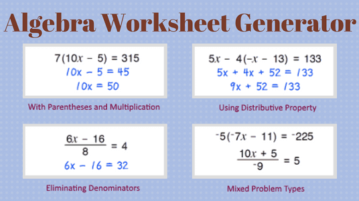 5 Online Algebra Worksheet Generator Websites Free