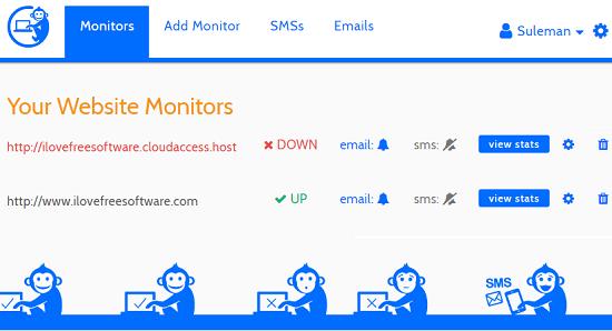 down time monkey multiple websites uptime monitoring