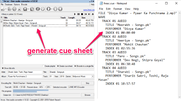 4 Free Cue Sheet Generator Software