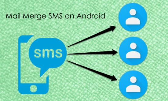 mail merge sms